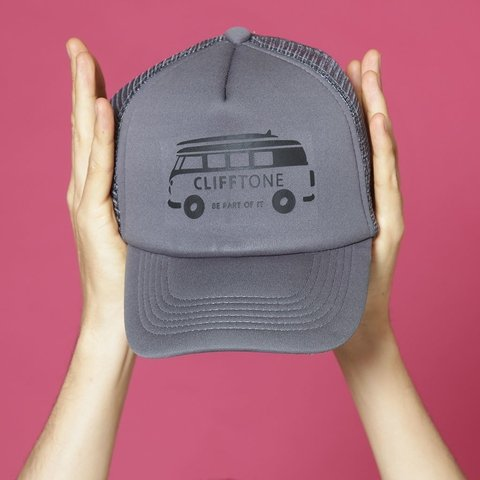 Gorra trucker Mini Van Gris - Clifftone