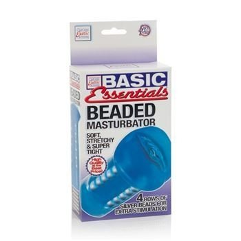 BASIC ESSENTIALS BEADED MASTURBATOR - tienda online