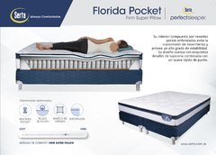Sommier Inducol y Colchón Resortes Serta Florida Pocket 200x200 en internet