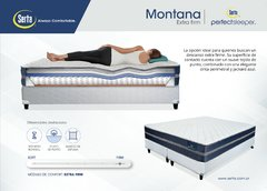 Colchón Serta Montana 160x200 Extra Firme + 2 Sommiers Inducol 80x200 - tienda online