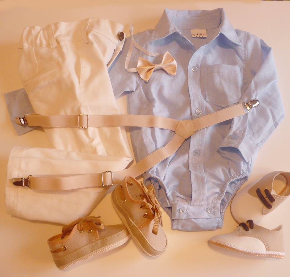 4769bf419 Set conjunto traje bautismo pantalon body camisa zapatos moño y tiradores