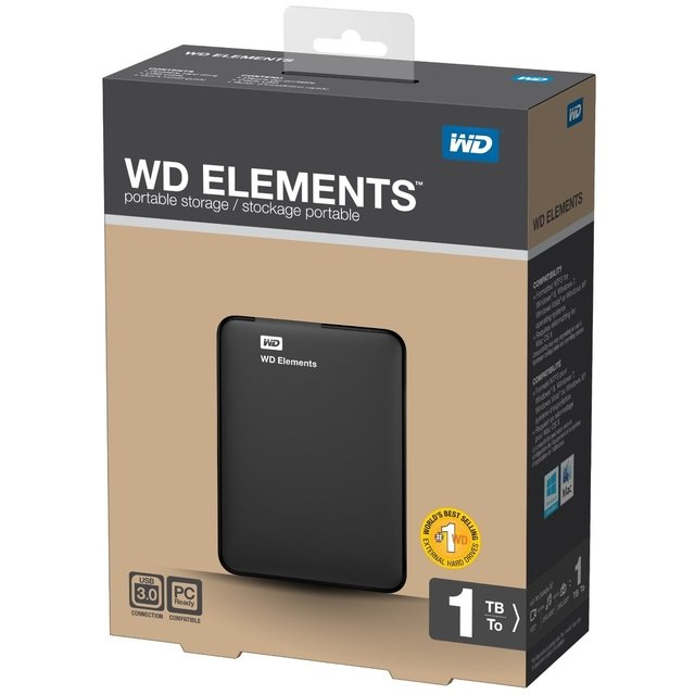 DISCO RIGIDO EXTERNO 1TB WD ELEMENT 3.0 USB