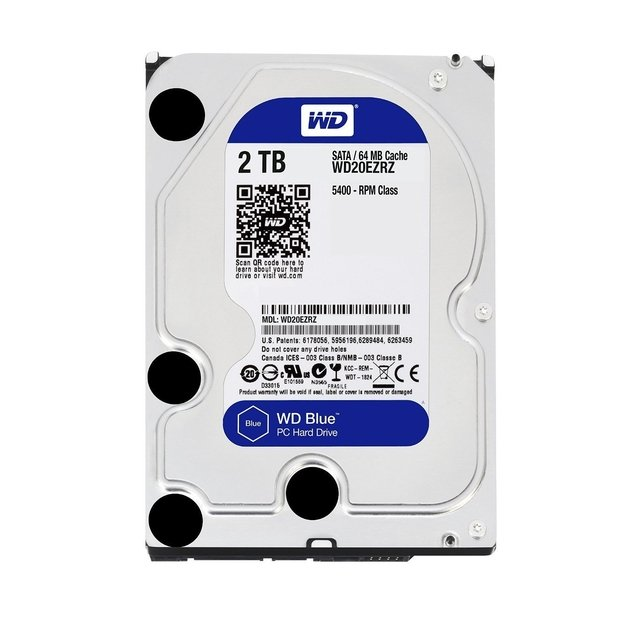 DISCO RIGIDO HDD 2 TB SATA3 WD BLUE 64MB GTIA
