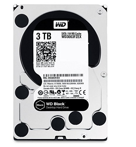 DISCO RIGIDO 3TB 7200 WD SATA3 BLACK EDITION