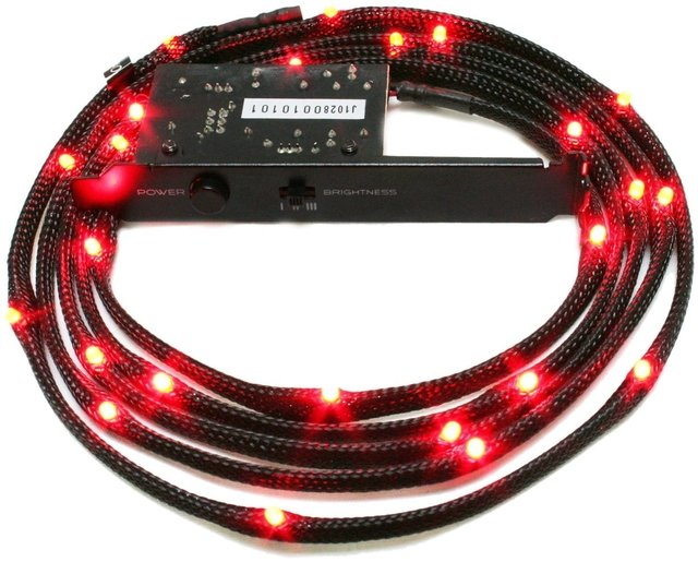 CABLE TIRA LED NZXT RED 1 METRO GAMER LUZ ROJO GTIA 12