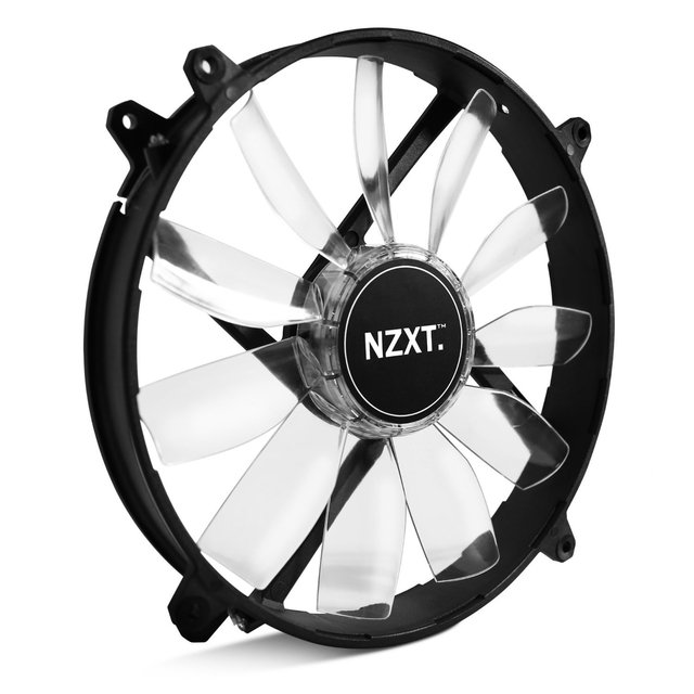 FAN COOLER NZXT AIRFLOW SERIES FZ-200 200 BLANCO LED GTIA 24 - comprar online