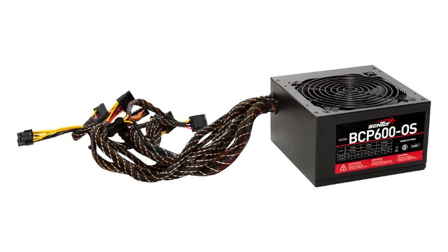 FUENTE PC SENTEY BCP600-OS POTENCIA 600W REALES FAN 120MM