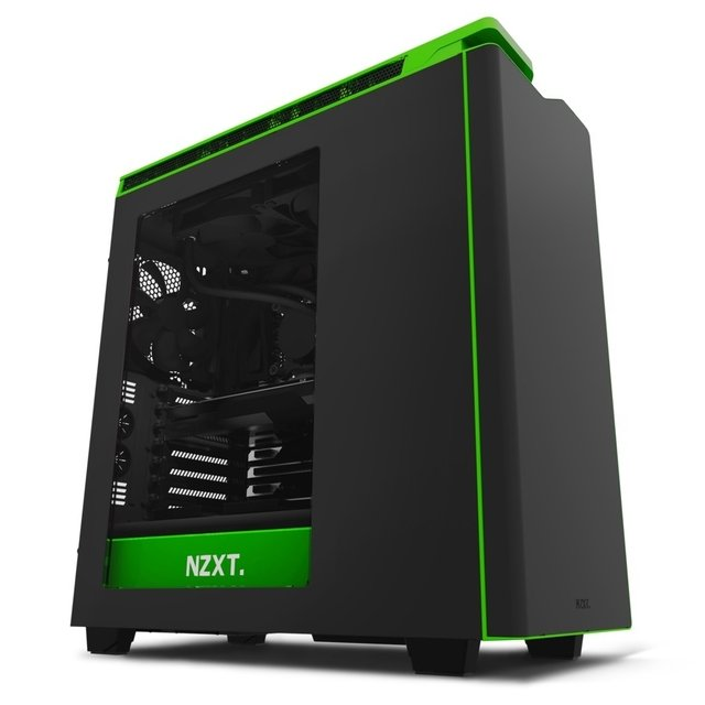 Imagen de GABINETE NZXT H440 BLACK-GREEN FAN X4 MID TOWER USB 3.0 GTIA