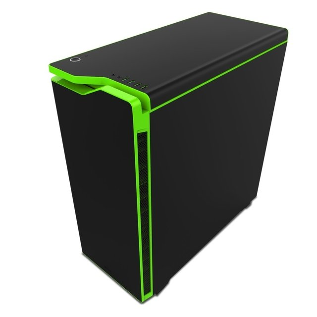 GABINETE NZXT H440 BLACK-GREEN FAN X4 MID TOWER USB 3.0 GTIA - tienda online