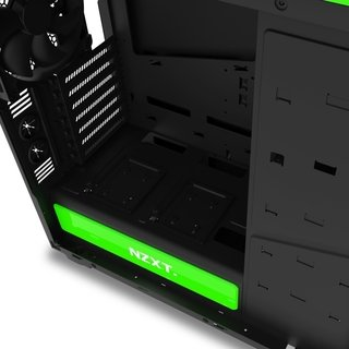 GABINETE NZXT H440 BLACK-GREEN FAN X4 MID TOWER USB 3.0 GTIA - comprar online