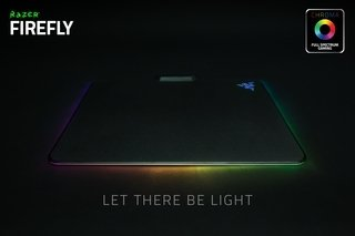 MOUSE PAD RAZER FIREFLY HARD 355 X 255 MM LUZ USB GAMER GTIA