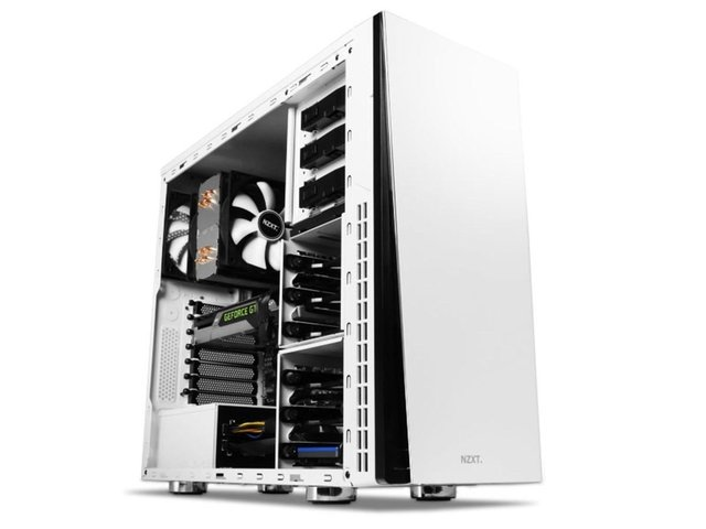 GABINETE NZXT H230 WHITE MID TOWER 2X FAN GAMER GTIA