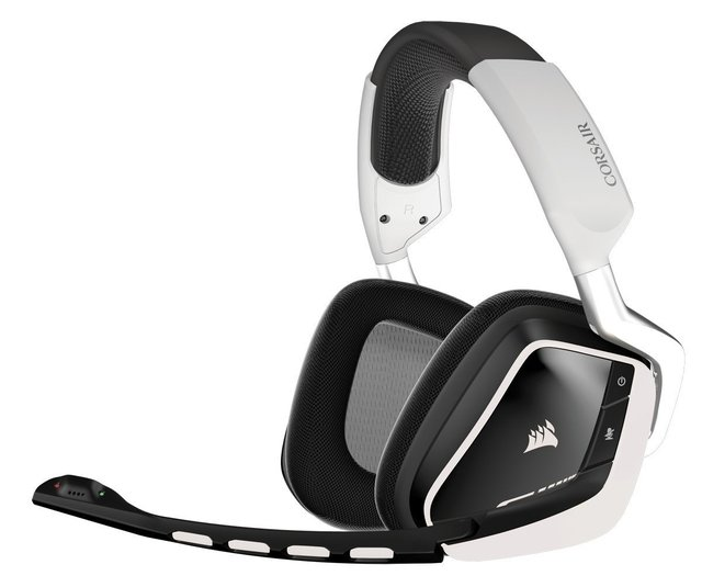 AURICULARES CORSAIR VOID RGB WIRELESS 7.1 WHITE DOLBY MIC