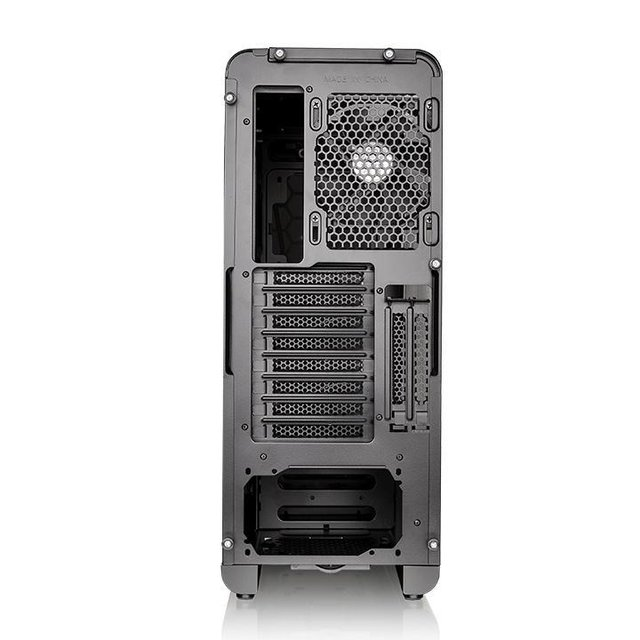GABINETE THERMALTAKE VIEW 27 BLACK RIING 12 RED MID-TOWER - comprar online