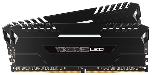 MEMORIA CORSAIR VENGEANCE LED DDR4 WHITE 16GB 2666 MHZ 2X8 - comprar online
