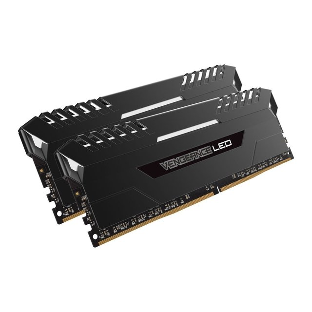 MEMORIA CORSAIR VENGEANCE LED DDR4 WHITE 16GB 2666 MHZ 2X8 - Exxa Store