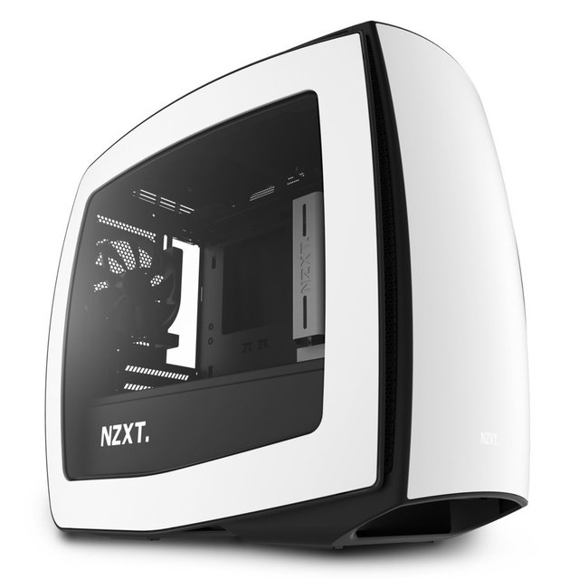 Imagen de GABINETE NZXT MANTA MINI ITX MATTE WHITE BLACK FAN X3 GAMER