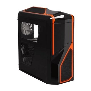 GABINETE NZXT PHANTOM 410 BLACK AND ORANGE FAN X3 GAMER GTIA - tienda online