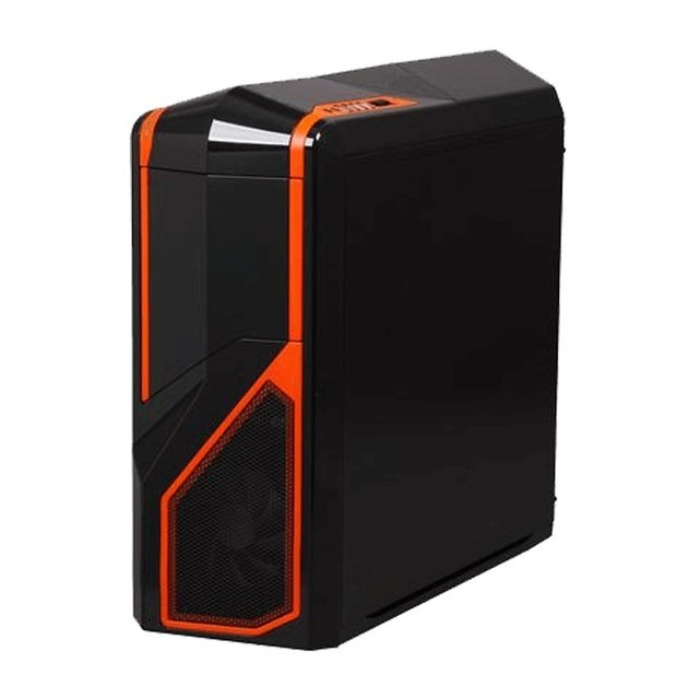 Imagen de GABINETE NZXT PHANTOM 410 BLACK AND ORANGE FAN X3 GAMER GTIA
