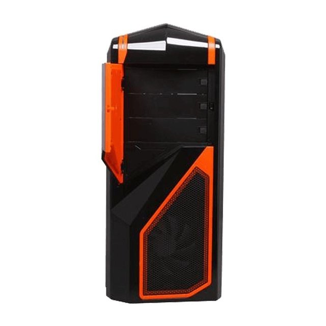 GABINETE NZXT PHANTOM 410 BLACK AND ORANGE FAN X3 GAMER GTIA - comprar online