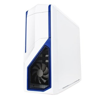 GABINETE NZXT PHANTOM 410 WHITE AND BLUE FAN X3 GAMER GTIA - tienda online