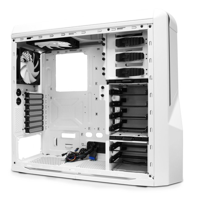 GABINETE NZXT PHANTOM 410 WHITE AND BLUE FAN X3 GAMER GTIA en internet
