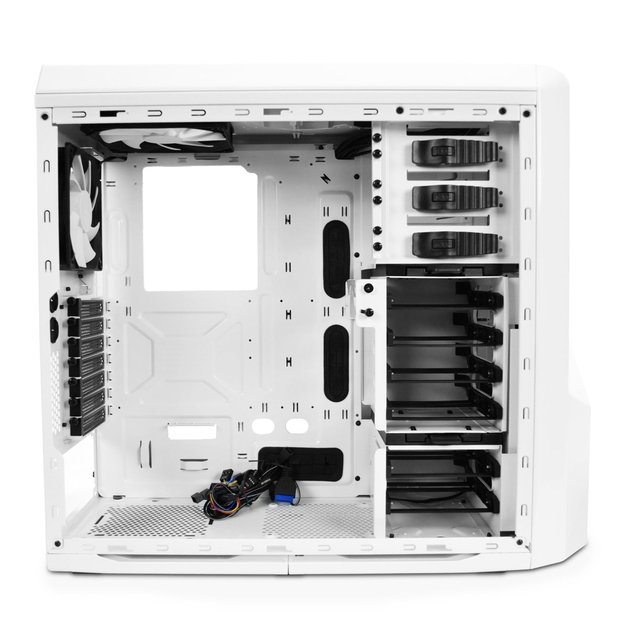 GABINETE NZXT PHANTOM 410 WHITE AND BLUE FAN X3 GAMER GTIA - comprar online