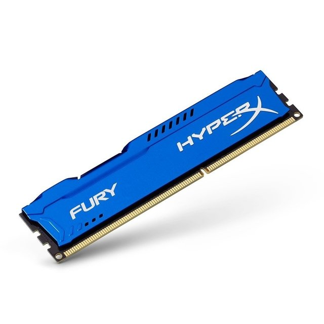 MEMORIA RAM KINGSTON HYPERX FURY BLUE DDR3 4GB 1600 MHZ GTIA - comprar online