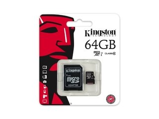 MEMORIA SD KINGSTON MICRO SD CLASE 10 64GB ORIGINAL GARANTIA