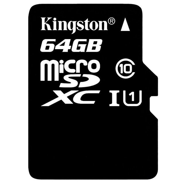 MEMORIA SD KINGSTON MICRO SD CLASE 10 64GB ORIGINAL GARANTIA - tienda online