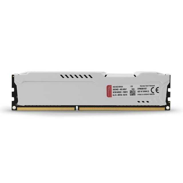 MEMORIA RAM KINGSTON HYPERX FURY WHITE DDR3 4GB 1600 MHZ en internet