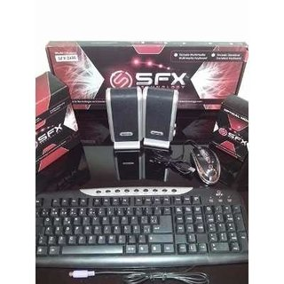 GABINETE SFX KIT 543 BLACK PLUS V2.0 FUENTE 500W TEC MOUSE