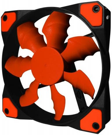 FAN COOLER RAIDMAX COBRA FAN RX-120SR RED GAMER GTIA 24M - comprar online