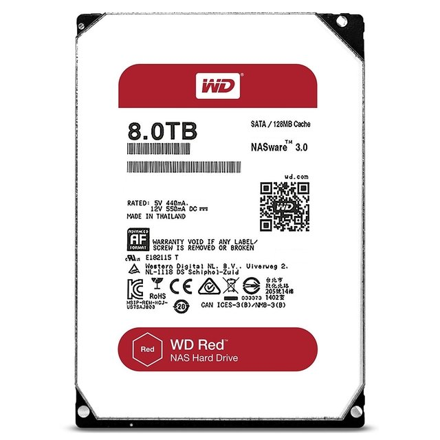 DISCO RIGIDO 8TB SATA 5400 NAS WD RED EDITION