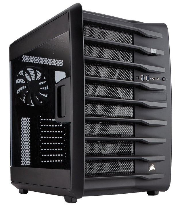 GABINETE CORSAIR CARBIDE AIR 740 AIRFLOW ATX CUBE FAN X3
