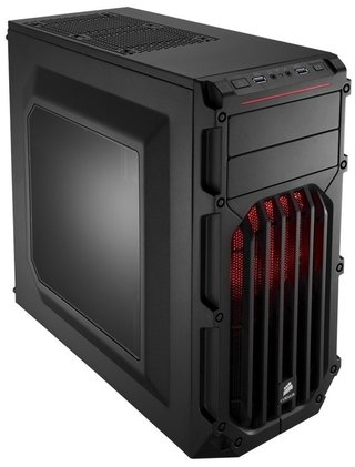 GABINETE CORSAIR SPEC 03 BLACK RED LED MID TOWER FAN X2 GTIA