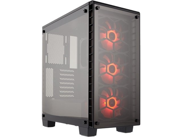 Imagen de GABINETE CORSAIR CRYSTAL 460X RGB BLACK MID TOWER FAN X3 RGB