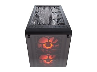 GABINETE CORSAIR CRYSTAL 460X RGB BLACK MID TOWER FAN X3 RGB