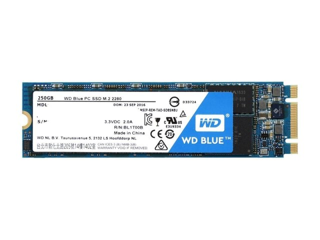 DISCO SOLIDO SSD 250GB M.2 WD BLUE INTERNAL SATA-6GB/S GTIA - tienda online