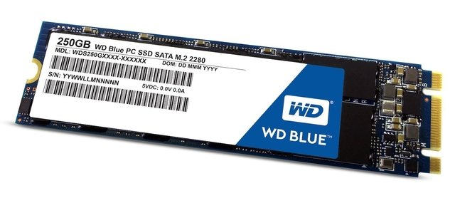 DISCO SOLIDO SSD 250GB M.2 WD BLUE INTERNAL SATA-6GB/S GTIA