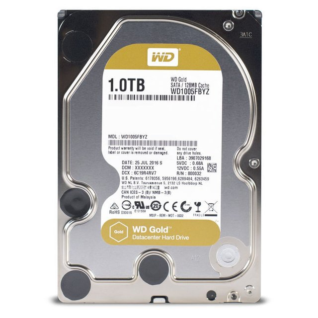 DISCO RIGIDO 1TB 7200 S-ATA3 WD GOLD DATACENTER