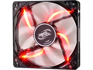 FAN COOLER DEEPCOOL WIND BLADE 120 RED LED 120X120X25 65CFM - comprar online