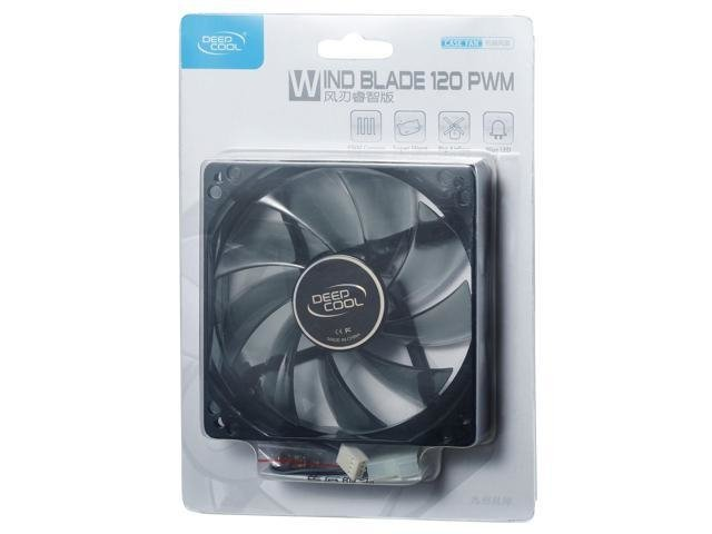 FAN COOLER DEEPCOOL WIND BLADE 120 RED LED 120X120X25 65CFM - Exxa Store