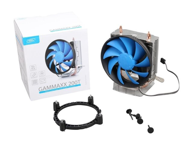 CPU COOLER DEEPCOOL CPU GAMMAXX 200T 54CFM FAN 120MM GTIA 12