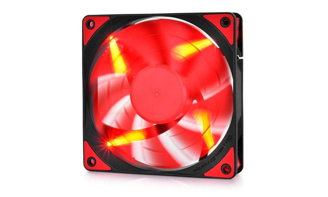 FAN COOLER DEEPCOOL GS TF120 RED LED 120X120X26 76.5CFM GTIA en internet