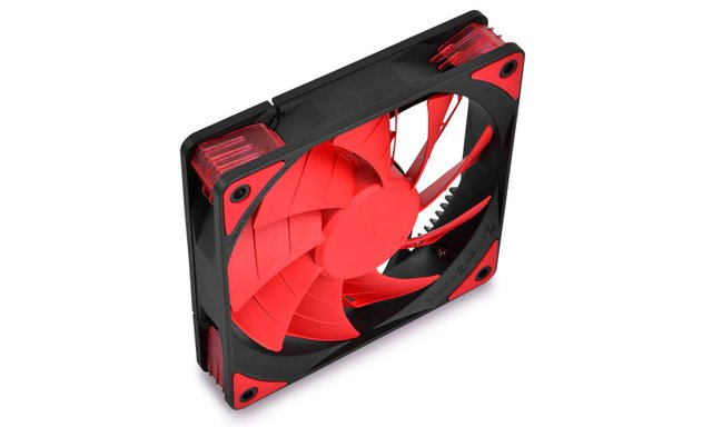 FAN COOLER DEEPCOOL GS TF120 RED LED 120X120X26 76.5CFM GTIA - Exxa Store