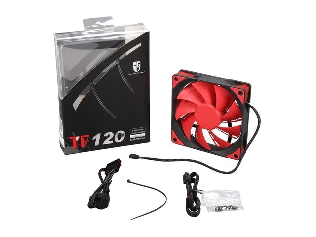 FAN COOLER DEEPCOOL GS TF120 RED LED 120X120X26 76.5CFM GTIA