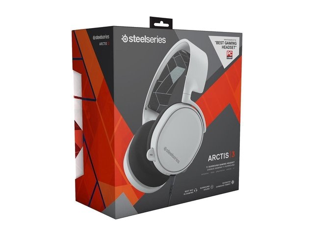 AURICULARES STEELSERIES ARCTIS 3 - WHITE - GAMER - GTIA 12