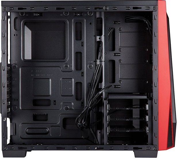 GABINETE CORSAIR CARBIDE SPEC 04 BLACK/RED - Exxa Store