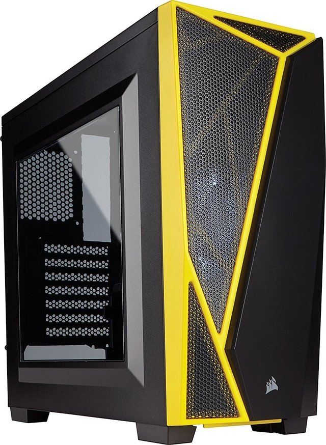 GABINETE CORSAIR CARBIDE SPEC 04 BLACK/YELLOW - comprar online